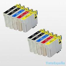10 Cartuchos Compatible NonOem EPSON T1285 STYLUS SX 425W SX 235W SX 230 SX 430W