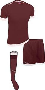 Soccer Lime Maroon/White Sarson Bremen Uniform Kit Jersey Shorts and Socks
