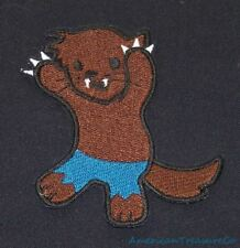 Embroidered Adorable Baby Werewolf Kid Monster Horror Patch Iron On Sew On USA