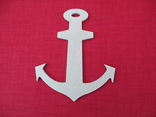 WOODEN UNPAINTED MDF NAUTICAL ANCHOR SHAPE / BLANK