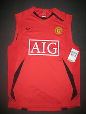Nike 2006-2009 Manchester United Training Shirt Jersey Kit Sleeveless Home Red