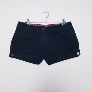 Emily the Strange Womens Size S Small Black Straight Shorts Rolled Cuffs