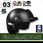 SIDAN Black HGU-56 Pilot Helmet Weapons for Brick Minifigures
