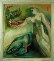 """Rudolf Rothe """"Helle Figuren"""" 1965,dynamisch expressives Hauptwerk,Ölgemälde"""