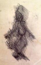 "Julian Ritter- The Clown- Charcoal Tracing on Vellum-18""x24"" Un- Signed -512"