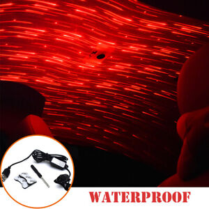 Meteor Star Red LED Car Ambient Ceiling Light USB Interior Galaxy Projector Kit
