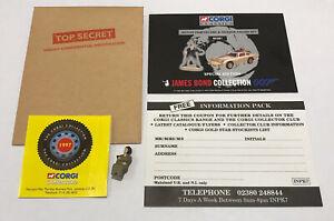 1997 Corgi James Bond Aston Martin DB5 04201 Certificate Bandit figure Envelope