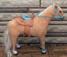 "18"" PALOMINO HORSE SET Blonde Hair Pony w Saddle My Life fits American Girl Doll"