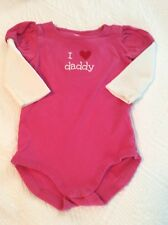 Adorable GYMBOREE I LOVE DADDY Pink One piece 12-18 Months GUC