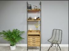 INDUSTRIAL RETRO SHELVES .WOOD METAL LADDER STYLE HOME OFFICE  STORAGE NEW