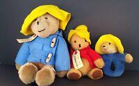 Paddington Bear lot of 3 from the 1975  – NWT