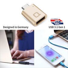 NONDA USB-C to USB 3.0 Mini Adapter Gold color for MacBook