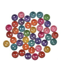 10mm Mixed Wood Button Scrapbooking Crafts 100PCS Accessories Garment