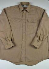Bulwark Classic Mens Flame Resistant Shirt Size XL Tan Work Red Cap FR