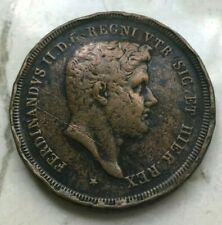 1841 Italy Two Sicilies Sicily 10 Tornesi - Big Thick Copper