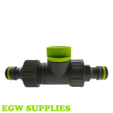 """Garden Hose Pipe In line Tap 1/2"""" Shut Off Valve Fitting Connector"""