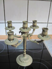 Schöner älterer Messingleuchter Kerzenleuchter Messing 5-armig