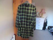 Colección señoras de Lana Tartán The Edinburgh Chaqueta 18 y falda plisada 16