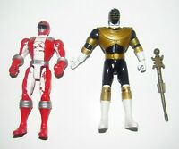 Power Rangers Zeo Gold & Overdrive Red Action Figure lot Bandai