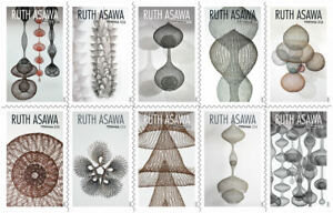 2020 US Stamp - Ruth Asawa - Block of 10 - SC# 5504 - 5513