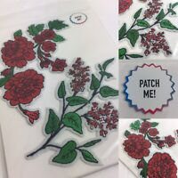 🌺Iron-On Rose Petal PATCHES For Denim Jackets/Bags/Jeans- Flower Festival Hippy