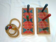 Vintage Wood Toy Ring Toss Game
