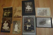 8 Vintage Texas Photos Children Boy Girl Baby Family Gun Dog Late 1800 to 1900's