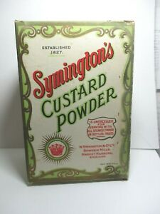 VINTAGE SHOP ADVERTISING DISPLAY BOX - SYMINGTON'S CUSTARD POWDER