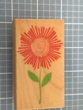 RADIANT FLOWER Hero Arts Wood Mounted Rubber Stamp New