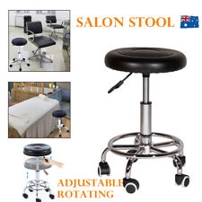 Salon Barber Stool Massage Beauty Hairdressing Chair Swivel Hydraulic Lift Round