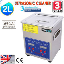 2L LITRE STAINLESS ULTRASONIC CLEANER ULTRA SONIC BATH CLEANING TANK WITH TIMER