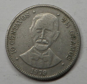 Dominican Republic 10 Centavos 1979 Copper-Nickel KM#50