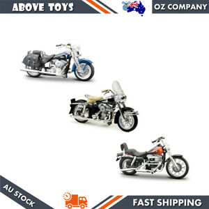 Harley Davidson 1:24 Scale Model Motorcycle Diecast Bike 3 Options Can Choose