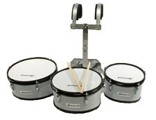 3er Marching Drum Set Timptoms+Carrier+Accessories