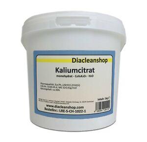 Kaliumcitrat Monohydrat - Kaliumgehalt 36% - Pharmaqualität Pulver 1kg