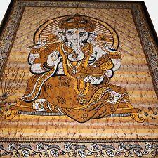 COUVRE-LIT COUVERTURE JAI Ganesh Seigneur Tapisserie Décoration murale Inde