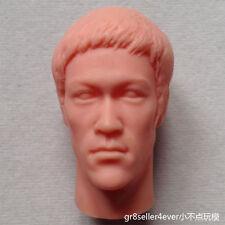 1/6 scale Custom blank Head Sculpt Bruce Lee Enter the dragon Unnpainted