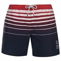 Mens SoulCal Deluxe Stripe Swim Shorts Lightweight New