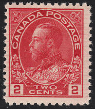 Canada 2c KGV Admiral, Scott 106ix HAIRLINES, F-VF MNH, catalogue - $156
