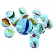 405 Glas-Murmeln im Standarddesign - 5 Netze á 81 St - Dekoration Murmel Knicker