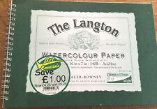 "The Langton watercolour paper 10""x7"" 140 lb acid free 12 Sheets"