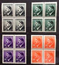 WWII 3Rd Reich BaM     Adolf Hitler    4 x 4   MNH