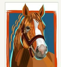 NEW Justify 13th Triple Crown Winner Original Digital Art Signed Print SFASTUDIO