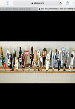 25 BEER TAP HANDLE DISPLAY HOLDS 25 TAPS WALL MOUNTED