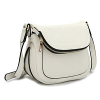 Dasein Womens Handbags Leather Crossbody Bags Messenger Bag Front Flap Purse