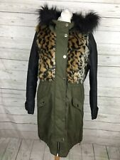 Women's River Island Parka Coat - UK6 - Lightly Quilted - Great Condition