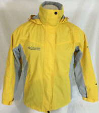 Columbia Raincoat w/ Liner 3 in 1 Yellow Omni Tech Titanium Men's Medium