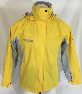 Columbia Raincoat w/ Liner 3 in 1 Yellow Omni Tech Titanium Men's Medium