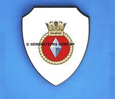 HMS DIAMOND WALL SHIELD (FULL COLOUR)