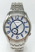 Orologio Citizen 1045-S031702 watch all stainless steel clock 39 mm dial fantast